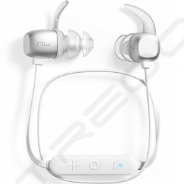 NuForce BE Sport4 Wireless Bluetooth In-Ear Earphone with Mic - Silver