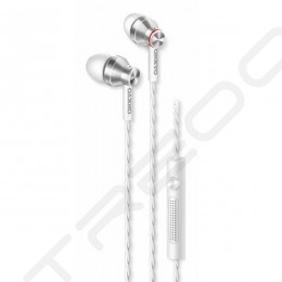 Onkyo E300M In-Ear Earphone with Mic - White