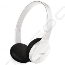 Philips SHB4000 Wireless Bluetooth On-Ear Headphone - White