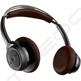 Plantronics BackBeat SENSE Wireless Bluetooth On-Ear Headphone with Mic - Black/Espresso