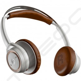 Plantronics BackBeat SENSE Wireless Bluetooth On-Ear Headphone with Mic - White/Tan