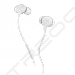 Puma Bulldog Sport-Lite In-Ear Earphone with Mic - White