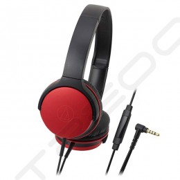 Audio-Technica ATH-AR1iS On-Ear Headphone with Mic - Red
