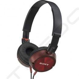 Sony MDR-ZX300 On-Ear Headphone - Red