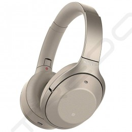 Sony WH-1000XM2 Wireless Bluetooth Noise-Cancelling Over-the-Ear Headphone with Mic - Beige