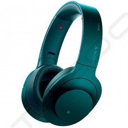 Sony MDR-100ABN Wireless Bluetooth Over-the-Ear Headphone with Mic - Viridian Blue