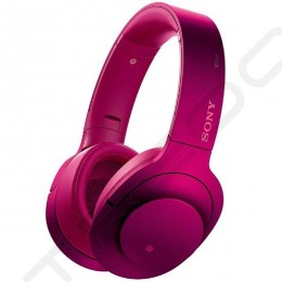 Sony MDR-100ABN Wireless Bluetooth Over-the-Ear Headphone with Mic - Bordeaux Pink