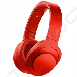 Sony MDR-100ABN Wireless Bluetooth Over-the-Ear Headphone with Mic - Cinnabar Red
