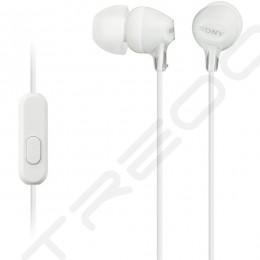 Sony MDR-EX15AP In-Ear Earphone with Mic - White