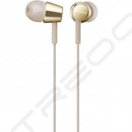 Sony MDR-EX155AP In-Ear Earphone with Mic - Gold