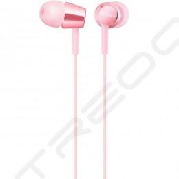 Sony MDR-EX155AP In-Ear Earphone with Mic - Light Pink
