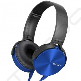Sony MDR-XB450AP On-Ear Headphone with Mic - Blue