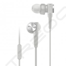 Sony MDR-XB55AP In-Ear Earphone with Mic - White