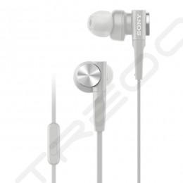 Sony MDR-XB55AP In-Ear Earphone with Mic - White
