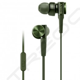 Sony MDR-XB75AP In-Ear Earphone with Mic - Green