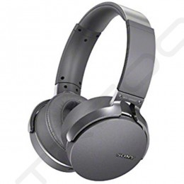 Sony MDR-XB950BT Wireless Bluetooth Over-the-Ear Headphone with Mic - Silver