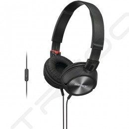 Sony MDR-ZX300AP On-Ear Headphone with Mic - Black