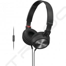 Sony MDR-ZX300AP On-Ear Headphone with Mic - Black