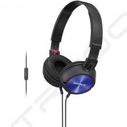 Sony MDR-ZX300AP On-Ear Headphone with Mic - Blue