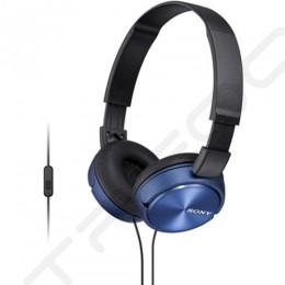 Sony MDR-ZX310AP On-Ear Headphone with Mic - Blue