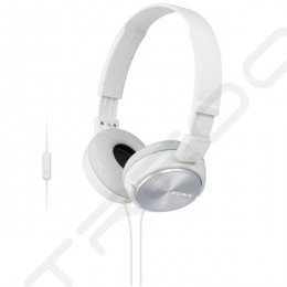 Sony MDR-ZX310AP On-Ear Headphone with Mic - White