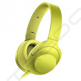 Sony MDR-100AAP Over-the-Ear Headphone with Mic - Lime Yellow