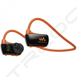 Sony NWZ-W273S Waterproof Walkman Neckband In-Ear Earphone - Orange