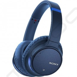 Sony WH-CH700N Wireless Bluetooth Noise-Cancelling Over-the-Ear Headphone with Mic - Blue