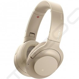 Sony WH-H900N h.ear on 2 Wireless Bluetooth Noise-Cancelling Over-the-Ear Headphone with Mic - Pale Gold
