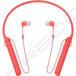 Sony WI-C400 Wireless Bluetooth Neckband In-Ear Earphone with Microphone - Red