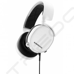 SteelSeries Arctis 3 (2019 Edition) Over-the-Ear Gaming Headset with Mic - White