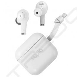 Sudio ETT True Wireless Bluetooth Noise-Cancelling In-Ear Earphone with Mic - White