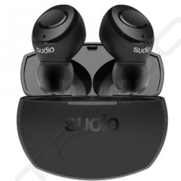 Sudio Tolv R True Wireless Bluetooth In-Ear Earphone with Mic - Black