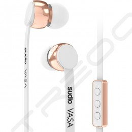 Sudio VASA In-Ear Earphone with Mic for iOS - Rose Gold White