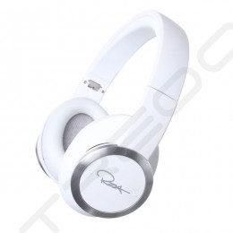 WeSC Chambers by RZA Premium Noise-Cancelling Over-the-Ear Headphone with Mic - Bright White