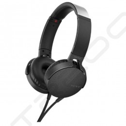 Sony MDR-XB550AP On-Ear Headphone with Mic - Black