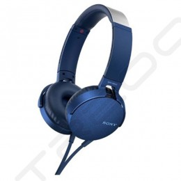 Sony MDR-XB550AP On-Ear Headphone with Mic - Blue