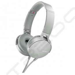 Sony MDR-XB550AP On-Ear Headphone with Mic - Greyish White
