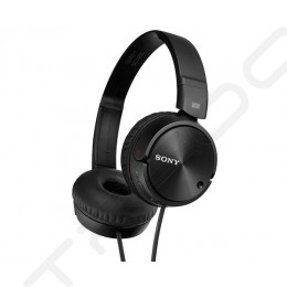 Sony MDR-ZX110NC Noise-Cancelling On-Ear Headphone With Microphone - Black