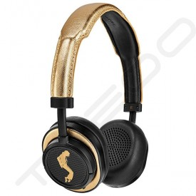 Master & Dynamic MW50+ Wireless Bluetooth Over-the-Ear Headphone with Mic - MJ Edition - Black Metal / Gold Leather