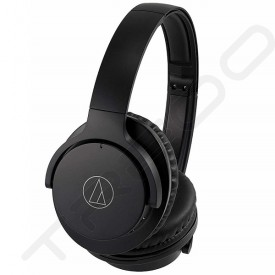 Audio-Technica ATH-ANC500BT QuietPoint® Wireless Bluetooth Active Noise-Cancelling Over-the-Ear Headphone with Mic - Black