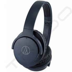 Audio-Technica ATH-ANC500BT QuietPoint® Wireless Bluetooth Active Noise-Cancelling Over-the-Ear Headphone with Mic - Navy