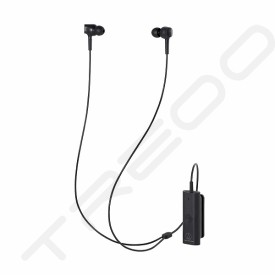Audio-Technica ATH-ANC100BT QuietPoint Wireless Bluetooth Active Noise-Cancelling In-Ear Earphone with Mic