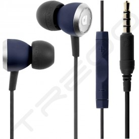AudioFly AF33C MK2 In-Ear Earphone with Mic - Navy Blue