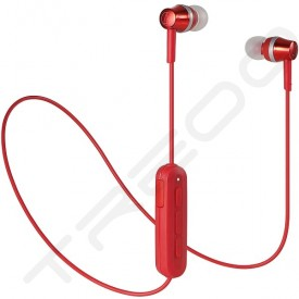 Audio-Technica ATH-CKR300BT Wireless Bluetooth In-Ear Earphone with Mic - Red