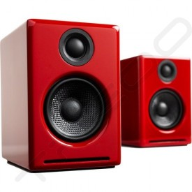 Audioengine A2+ Bookshelf 2.0 Wireless Bluetooth Speaker System - Hi-Gloss Red