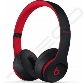 Beats Solo³ Wireless Bluetooth On-Ear Headphone with Mic - Defiant Black-Red