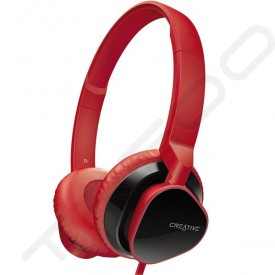 Creative Hitz MA2300 On-Ear Headphone with Mic - Red
