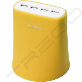 thecoopidea Jelly 5.1A 4-Port USB Power Block - Yellow