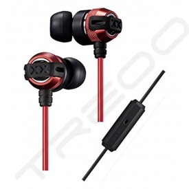 JVC HA-FX33XM In-Ear Earphone with Mic - Red
